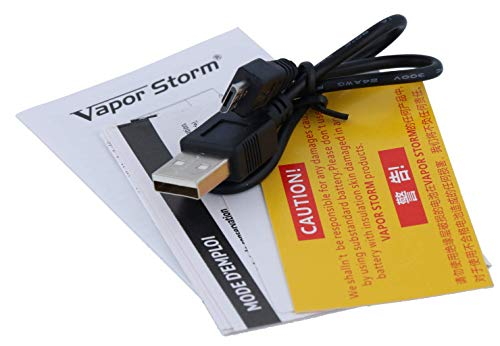 ECO Akkuträger mit max. 90 Watt - ohne Akkuzellen - von Vapor Storm - Farbe: schwarz