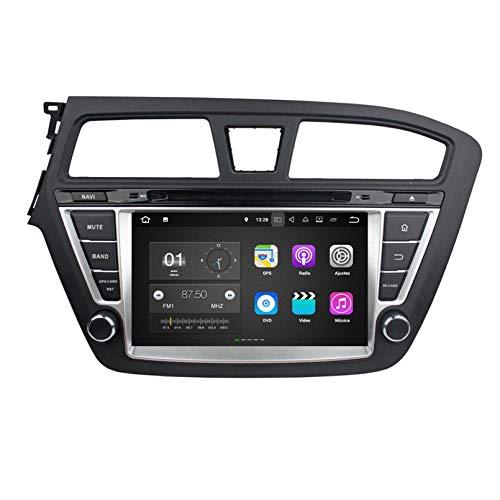 Android 7.1 Autoradio Coche para Hyundai I20(2014-2018) LHD, 2 GB RAM 16 GB ROM, 8 Pulgadas Pantalla Táctil Reproductor de DVD Radio Bluetooth Navegación GPS
