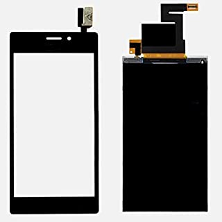 Winmaxcn Front Cover Touch Screen Digitizer Pantalla Táctil para Sony Xperia M2 D2302 D2303 D2305 D2306 + LCD Display (Negro)