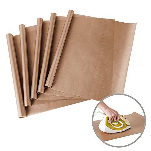 5pezzi PTFE Teflon per pressa di calore trasferimento foglio antiaderente resistente al calore 40,6x 61cm Craft Mat