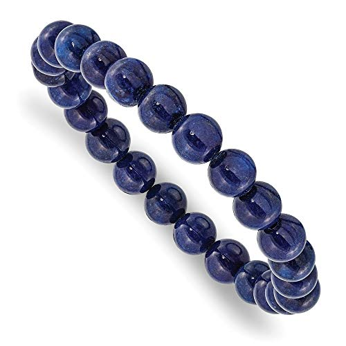 Blau Nephrit Stretch Armband