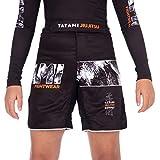 Tatami Fightwear Tropic Black Grappling Kids Shorts Enfants Unisex BJJ Vetements de Sport Fitness Entrainement Boxe Short