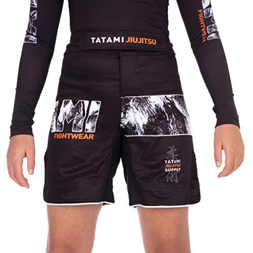 Tatami Fightwear Tropic Black Grappling Kids Shorts Ninos Pantalones Cortos Unisex Fitness BJJ Ropa Deportiva Boxeo Ejercicio