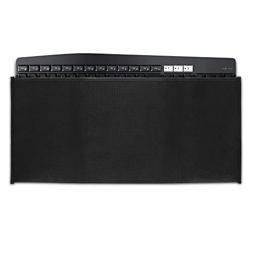 kwmobile Custodia Copritastiera Compatibile con Universal Keyboard - Protezione Antipolvere Tastiera PC - Cover Protettiva Nero