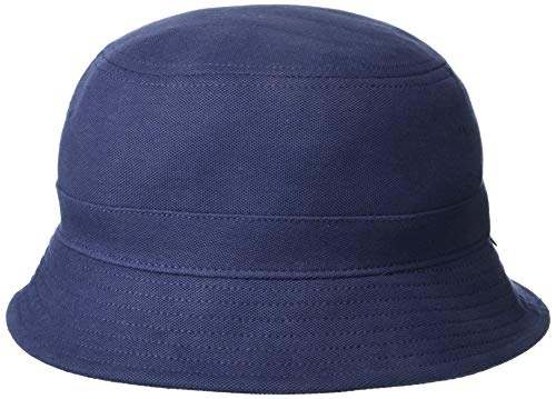 Lacoste Men's Pique Bucket Hat, Navy Blue, S/M