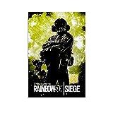 ASFAFG Acryl-Spiel-Poster Rainbow Six Siege Jager, 1