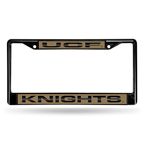 NCAA Rico Industries Laser Cut Inlaid Standard Chrome License Plate Frame, UCF Knights