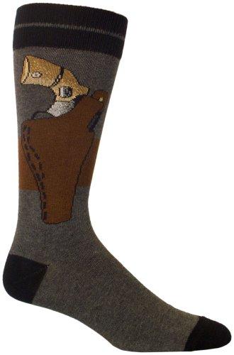 Ozone Men's Back-Up Gun Novelty Socks, Heather Grey, Sock...