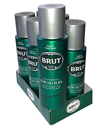 BRUT Original Body Spray Deodorante Bundle 6 x 200ml
