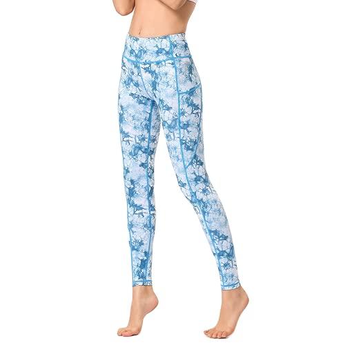 QTJY Pantalones de Yoga de Viento de Tinta para Mujer, Cintura Alta, Levantamiento de Cadera, Deportes, Fitness, Yoga, Pantalones, Pantalones Deportivos para Correr al Aire Libre, G M