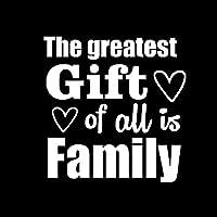 バンパーガラスステッカー 最大の贈り物は、家族の車のステッカーデカールビニール愛12.8CMX13.1CMです (Color : White)