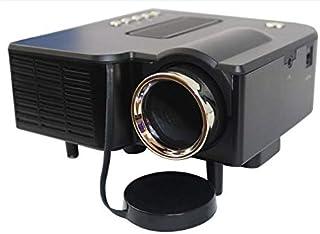 جهاز عرض AV مالتيميديا LED أسود سهل الحمل مع اغاني و صور فيديو يتوافق مع جميع الهواتف الذكية وأجهزة تاب و له نظام HDMI مع ...