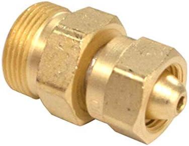 "Western Enterprises 314 Brass Cylinder Adaptors, from CGA-200""MC"" Acetylene to CGA-520""B"" Tank"