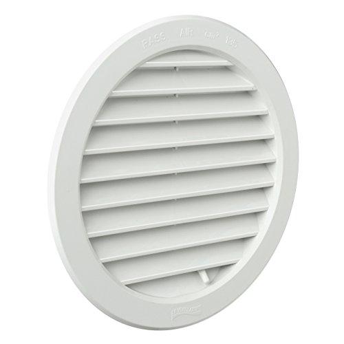 La Ventilazione T16DRB Griglia Tonda in Plastica da Incasso, Bianco, ø 190 mm