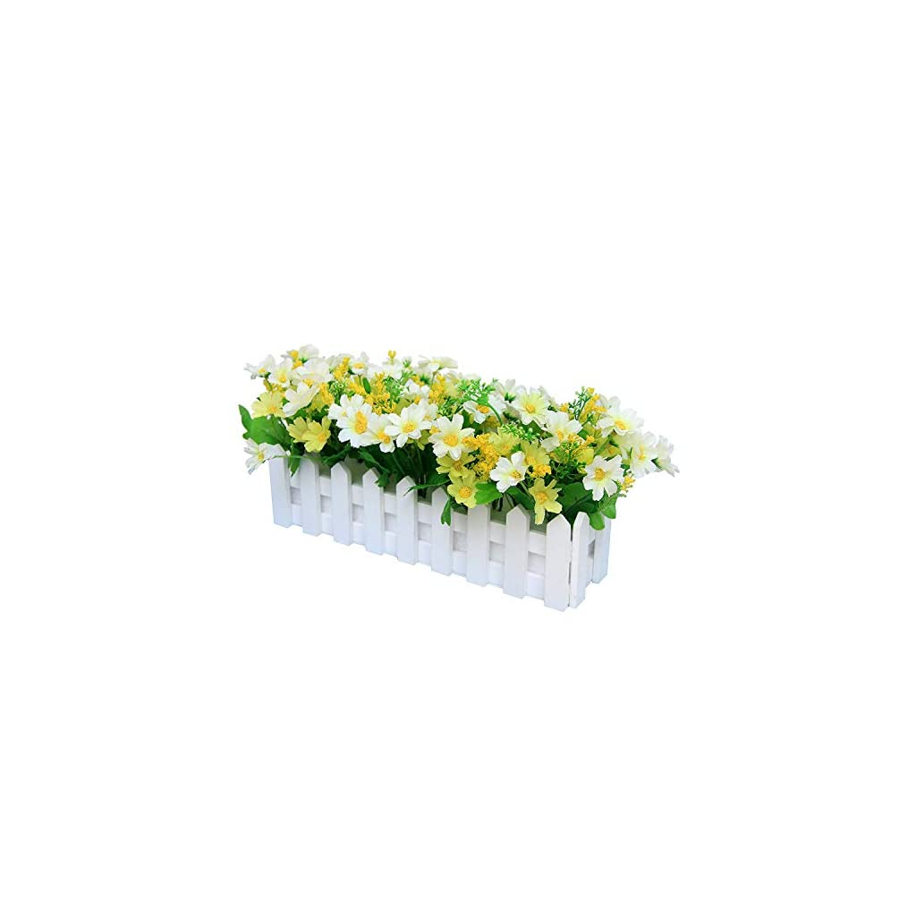 ARTIFICIAL FLOWER/Fake Outdoor Plants Chrysanthemum Fence Artificial Plants Pot Simulation Fake Artificial Potted Bonsai Home Decoration Ornaments Balcony Decor