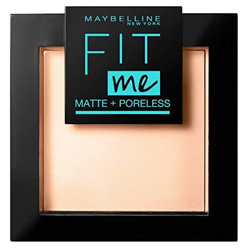 Maybelline New York Puder, Mattierend, porenverfeinernd und langanhaltend, Fit Me! Matte + Poreless, Nr. 120 Classic Ivory