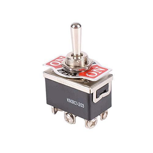Fauge 12V Coche 15A Universal Metal Encendido/Apagado/Encendido Centro de Palanca/Interruptor de Movimiento...