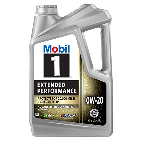 Mobil 1 Extended Performance Full Synthetic Motor Oil 0W-20, 5 Quart (120903)