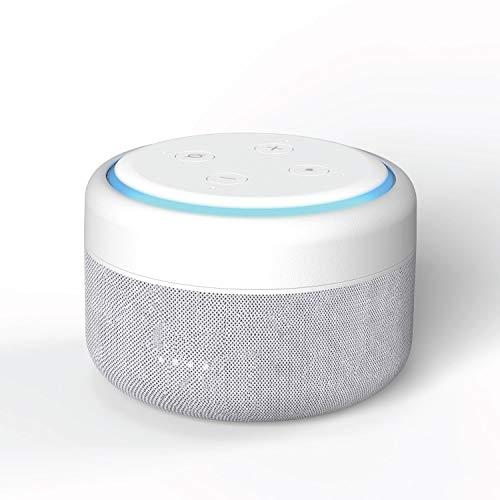 i-box Bateria Echo Dot 3, Base de Batería Portátil para Amazon Echo Dot 3ª Generación Altavoz Inteligente, hasta 12 Horas de Reproducción (Echo Dot no Incluido) Versión Actualizada (Blanco)