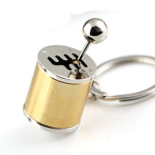 Tuqiang® 1PC Parkett Farbe Schlüsselanhänger Schlüssel Anhänger (golden)