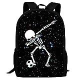 Balón de fútbol Dab Skull Mochila Escolar para niños Mochila Ligera para portátil para niñas Estudiantes BAG-028