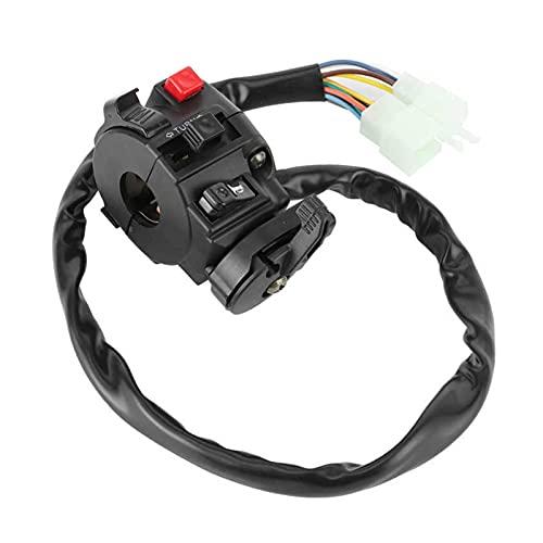 XIAOZHANG ZHANGQIN Interruptor de Manillar 22mm Cambio de Manillar 22mm 9 Pines 8 Cables FIT para 200CC 250cc Dirt Quad Bike Motorbike ATV