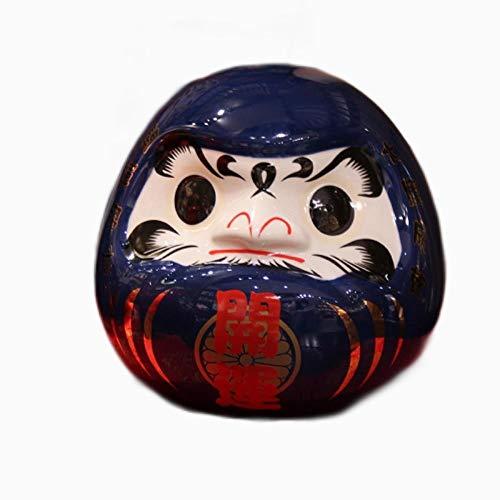 CHOUDOUFU Estatua Escultura Adorno 18,5/24,5 Cm Muñeca Japonesa De Cerámica Daruma Amuleto De La Suerte Fengshui Ornamento Zen Centro De Mesa Hucha Decoración De Mesa para El Hogar