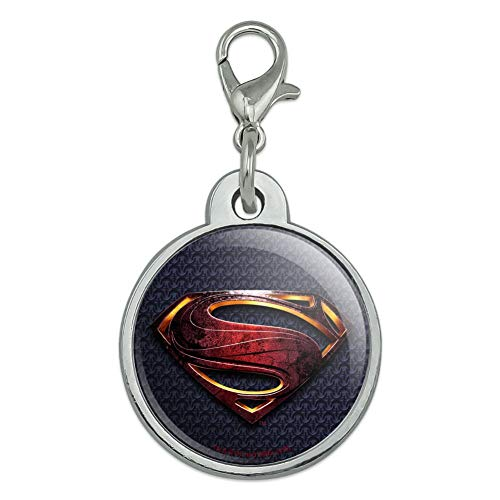 GRAPHICS & MORE Justice League Movie Superman Logo Chrome Plated Metal Pet Dog Cat ID Tag