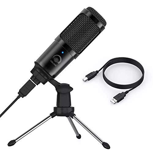 TIANYOU Microfono Usb, Kit Microfono per Condensatore con Condensatore Di Cardioide Professionale 192Khz / 24 Bit Studio, Amp; Hifi Chipset Amp; Plug And Play, per Trasmissione in S