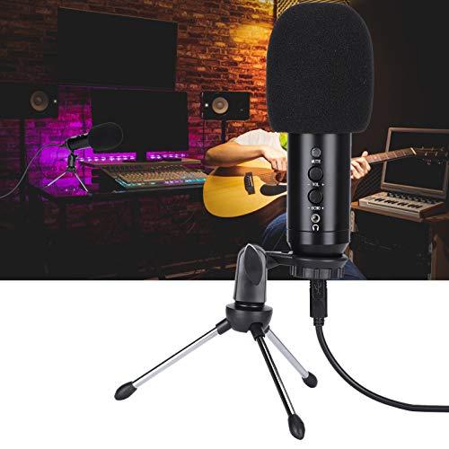 Snufeve6 Kit de micrófono de Condensador, Kit de micrófono para Juegos, Profesional para Juegos de Karaoke de podcasting en Vivo
