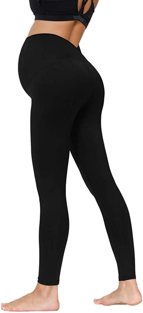 Maacie Premam/á Pantalones de Maternidad con Cintura de Doble Capas para Deporte