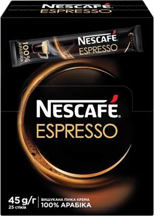 Nescafe Espresso Instant coffee 25 Sticks