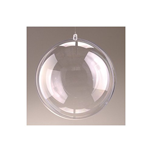 Lot de 2 Boules en Plastique Transparent séparable, diam. 16 cm, Contenant sécable plexi