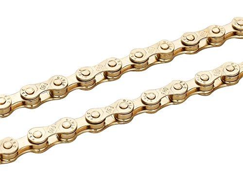 ZHIQIU FSC Fahrradketten, 6,7,8 Gänge, 116 l, Silber, Gold (1/2 x 3/32 Zoll) (Gold)