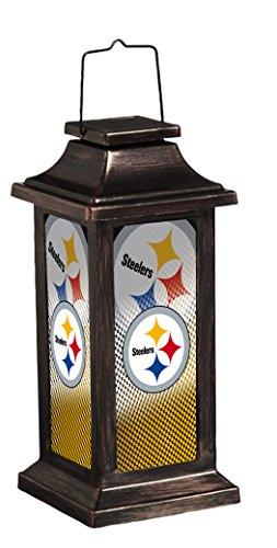 Team Sports America Solar Garden Lantern, Pittsburgh Steelers