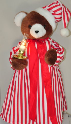 22' Telco Animated Illuminated Christmas Teddy Bear Motion-ette w/extra candle Display Figure