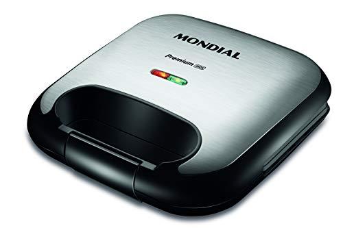Sanduicheira Mondial, Premium Inox, 220V, Preto/Inox, 750W - S-25