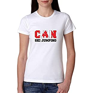 Customer reviews Canada Ski Jumping - Winter Olympic - Korea - CAN Flag Women's Cotton T-Shirt:Dailyvideo