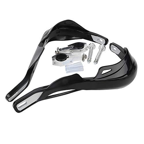 Palanca Mano Moto Manillar Guardias de Mano Protección del Protector de la Mano 22 mm 25 mm 28mm Pit de la Moto Motocicleta Motocross (Color : Negro)