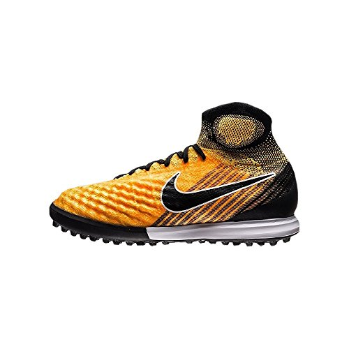 Nike–JR Magistax Proximo II DF TF Futsal, Unisex Kinder, Orange–(Laser Orange/Black-White-Volt)