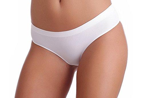 Gatta Sport String Sisi - Underwear Seamless String Tanga - 3er Vorteilspack, Weiß ,S (34-36)