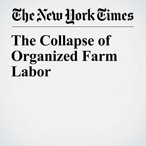 The Collapse of Organized Farm Labor copertina