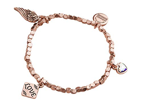 Alex and Ani Love Multi Charm Stretch Bracelet Rose Gold One Size