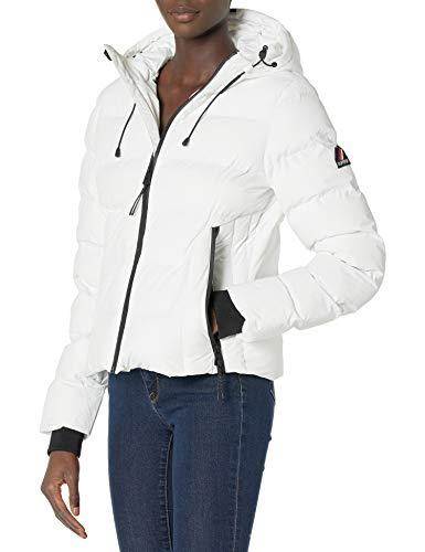 Superdry Womens Spirit Sports Puffer Jacket, White, M (Herstellergröße:12)
