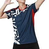 シャツ メンズ 半袖ゲームシャツ tシャツ テニスウェア スポーツウェア バドミントンウェア 抗菌消臭 吸水速乾 通気性 バレーボールウェア 卓球