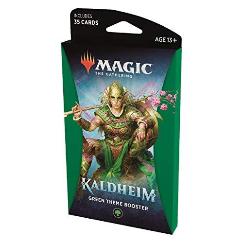 MTG Kaldheim Theme Booster Pack EN - Juego de cartas coleccionables (en inglés), color verde y bosque