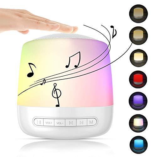 White Noise Inslaaphulp voor baby's, wit ruismachine, 28 natuurlijke geluiden, 3 timers, geheugenfunctie en USB-voeding, touch-nachtlampje voor kinderen/baby/volwassenen/insomniac/reizen