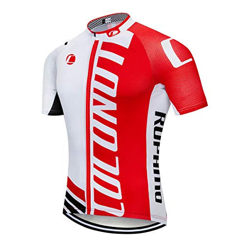 Coconut Ropamo Summer Men Cycling Jersey Road Bike Shirt Short Sleeve Breathable 100% Polyester (S,2059)