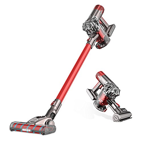 Proscenic P9GTS Cleaner, Lightweight Powerful Cordless Stick Vacuum, Red