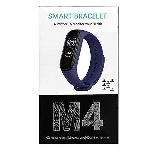 K KLACK PriceQuality Miband Smartband 4 Mi Band Azul Pulsera de Actividad Bluethoot, Monitores, Pantalla Color, Pulsómetro, Fitness, Reloj Inteligente, Deporte, Salud